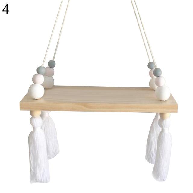 beaded tassel swing shelf